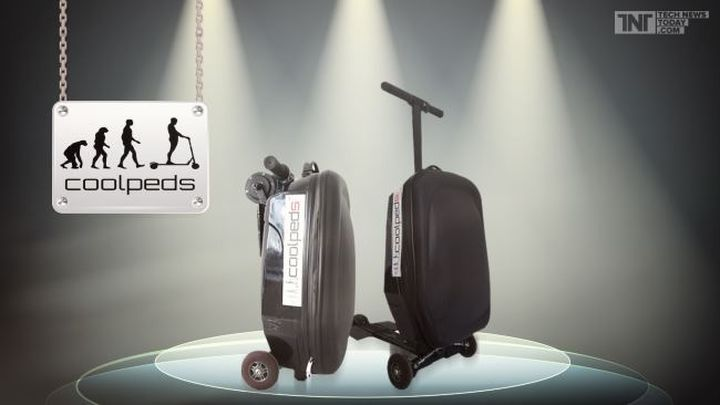 New hybrid scooter and a suitcase: Briefcase Electric Scooter