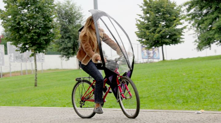 LeafxPro: new umbrella bicycle