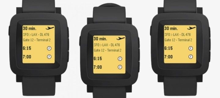 Pebble present new  and modern smart watch with bright yellow screen