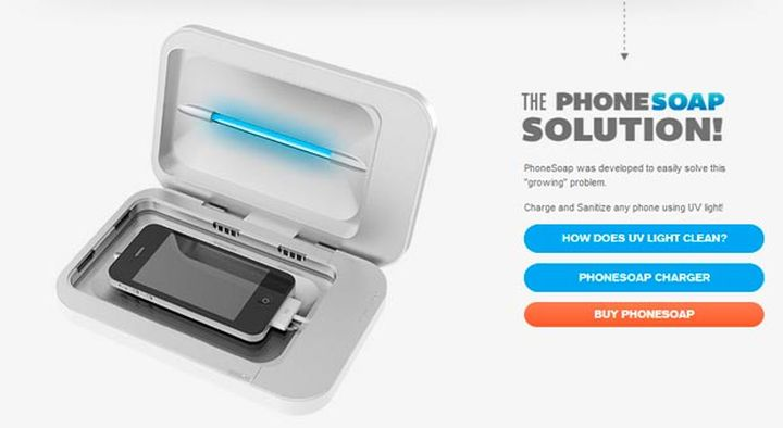 New PhoneSoap Charger - cleanse smartphone from 99.9% of germs