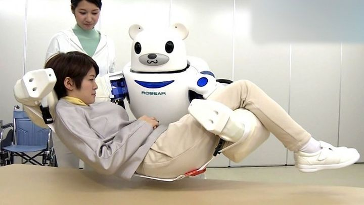 ROBEAR: new Japanese robot bear for the care of the elderly