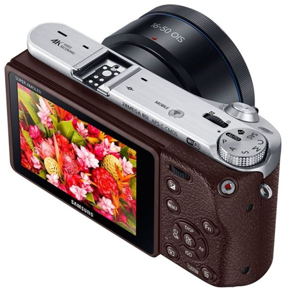 New 2015 Samsung NX500: 28-megapixel APS-C matrix and video in 4K