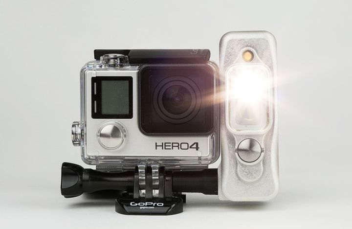 So it's new Sidekick equips LED Camera GoPro
