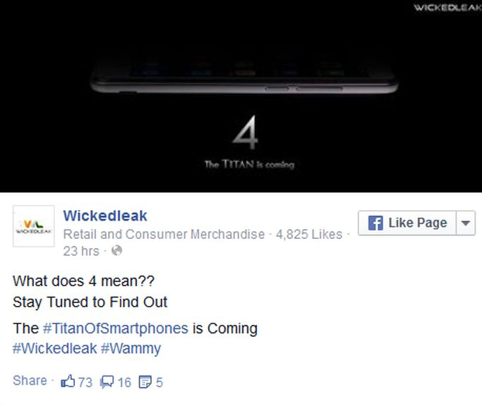 WickedLeak company is preparing to launch a new smartphone Titan