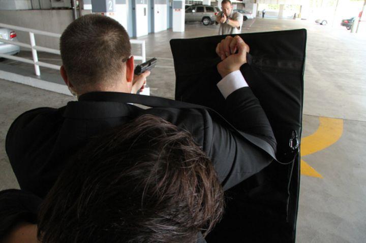 Bulletproof laptop case can stop a bullet 44 caliber