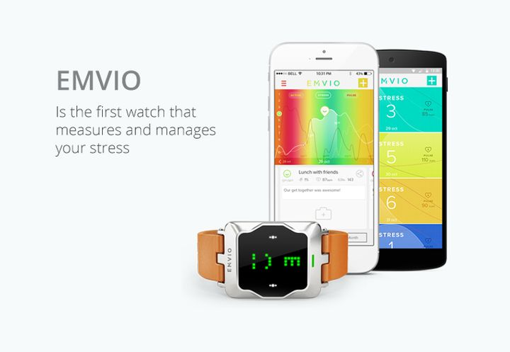 Emvio - «smart» Watch defining stress