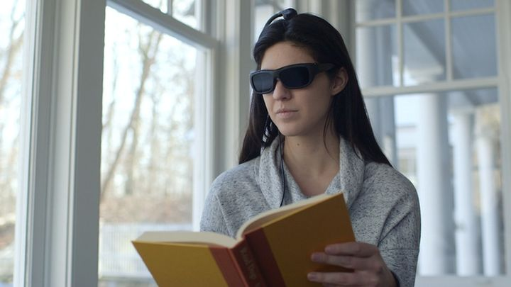 Futuristic Glasses Narbis darken when you lose concentration