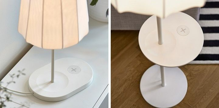 IKEA will integrate wireless charging into the new lamps and tables