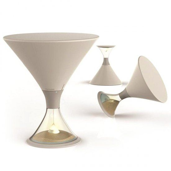 South Korean designers presented a lamp-hourglass