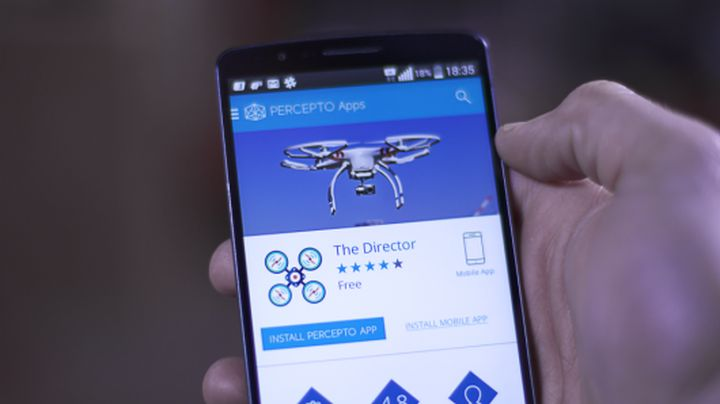 Percepto adds a publicly available application to control the camera drone
