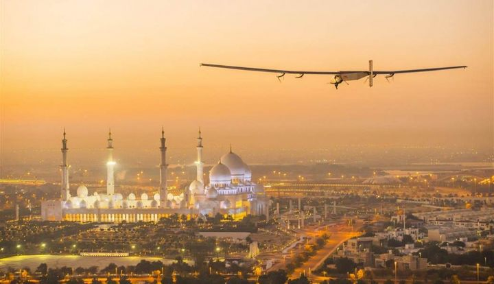Solar-powered plane went round the world flight