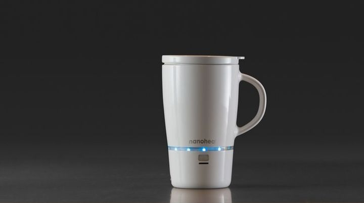 Nanoheat - mug with wireless heated