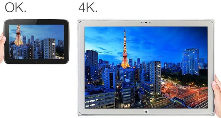 Panasonic has introduced an updated 20-inch tablet Toughpad 4K