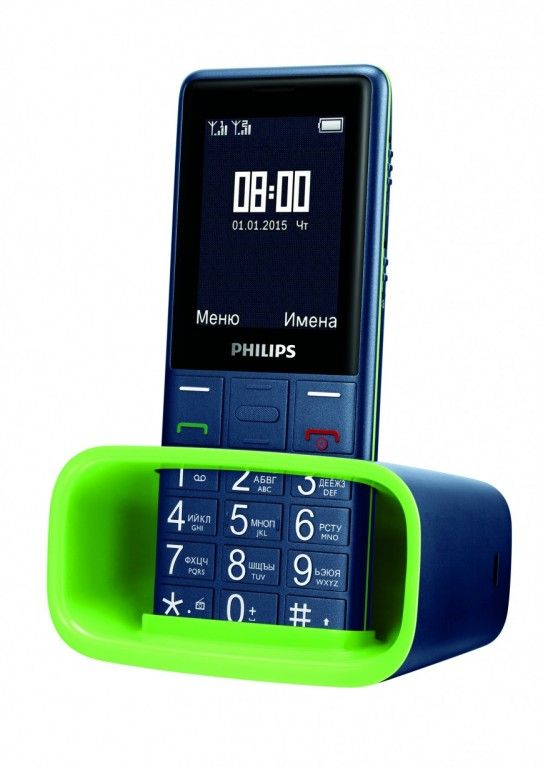 Philips Xenium E311: long-playing phone with flashlight
