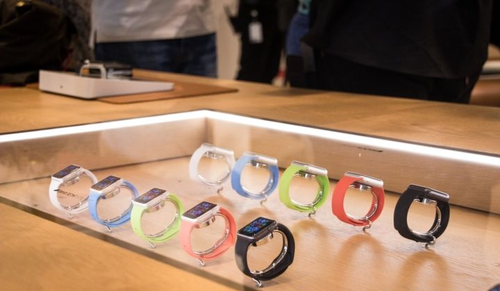 The first store Apple Watches in London
