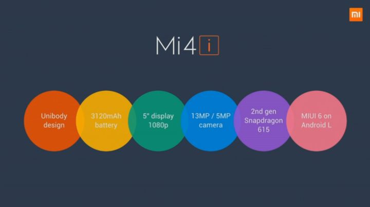Xiaomi Mi 4i - the new flagship of the 200 US dollars