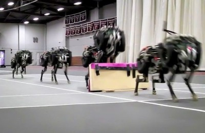 Cheetah robot learned to jump over obstacles