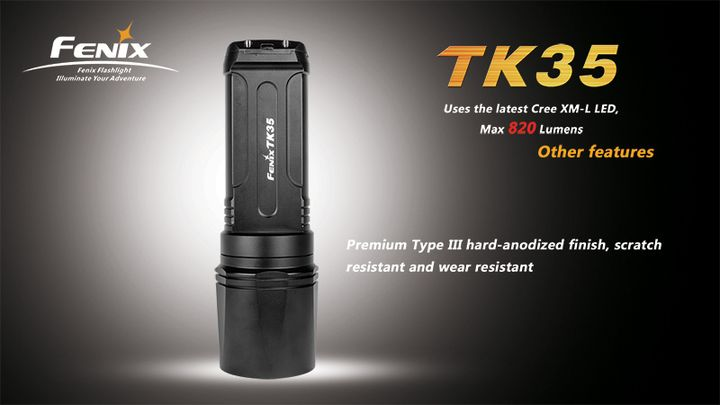 Fenix TK35 a new marching search flashlight
