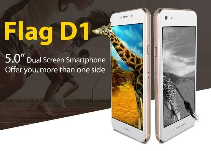 Huateng Flag D1 - twice cheaper than Yotaphone