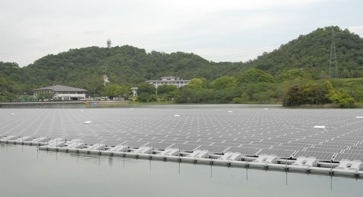 Japan launched a floating solar power station