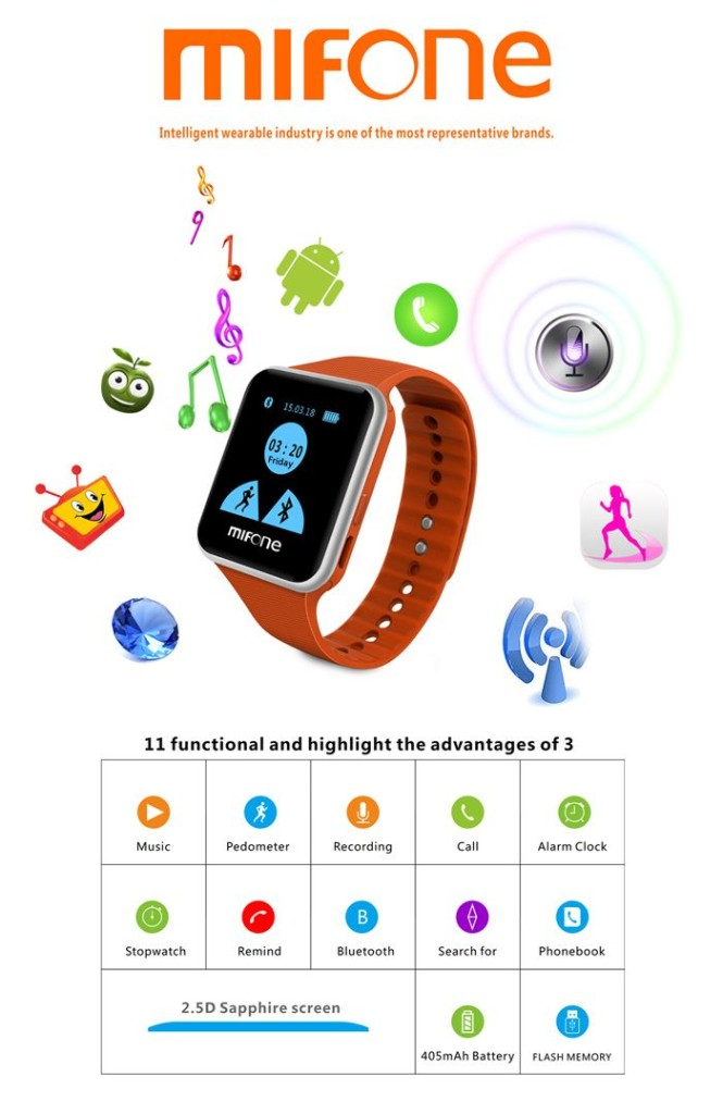 MiFone W15 a new steel and stylish smart watches
