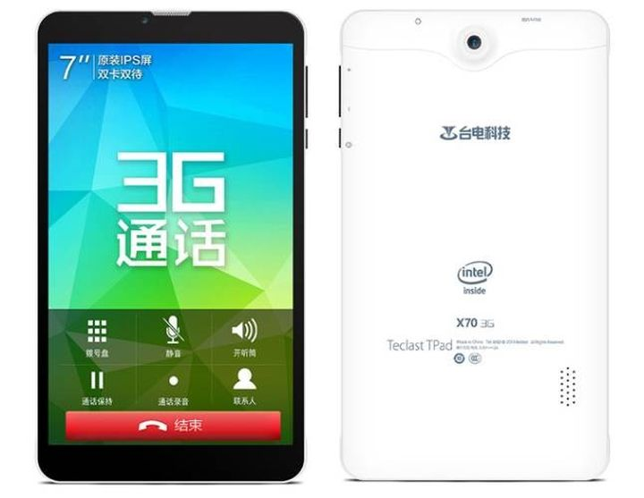 Teclast X70 3G is the first tablet with a chip Intel Atom x3