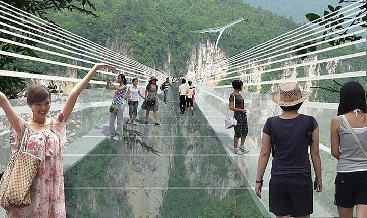 The world's longest glass bridge will be built in China