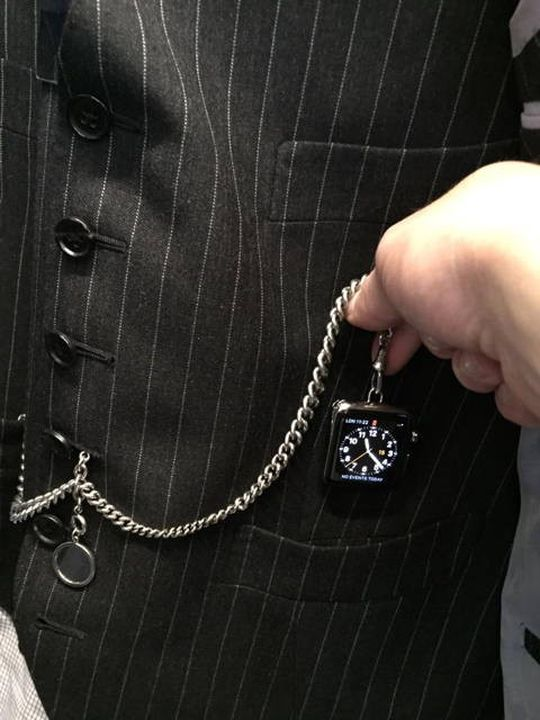 Apple Watch transformed into a pocket watch from Tom Ford