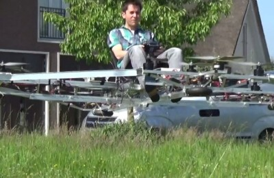 Enthusiast from the Netherlands created a manned multicopter