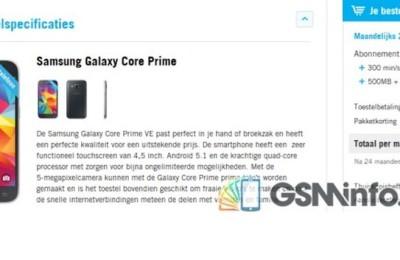 Samsung will release a budget smartphone Galaxy Core Prime Value Edition