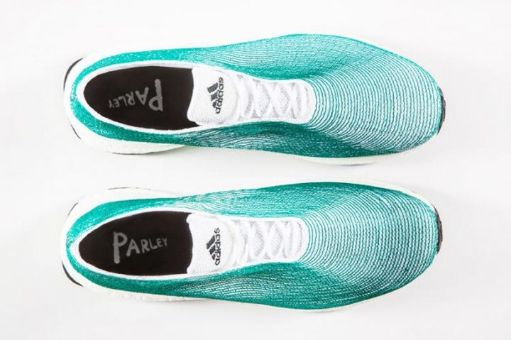 Adidas shoes 2015 made of plastic debris caught in the ocean
