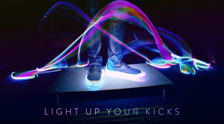 Blinky.Shoes - custom LED strips for shoes