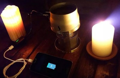 Candle phone Charger charges your gadgets with the help of candles