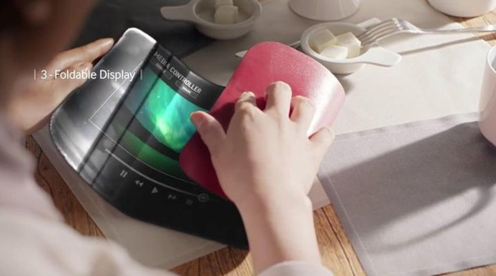 """New patents bend the LCD display Samsung and the """"invisible"""" button"""