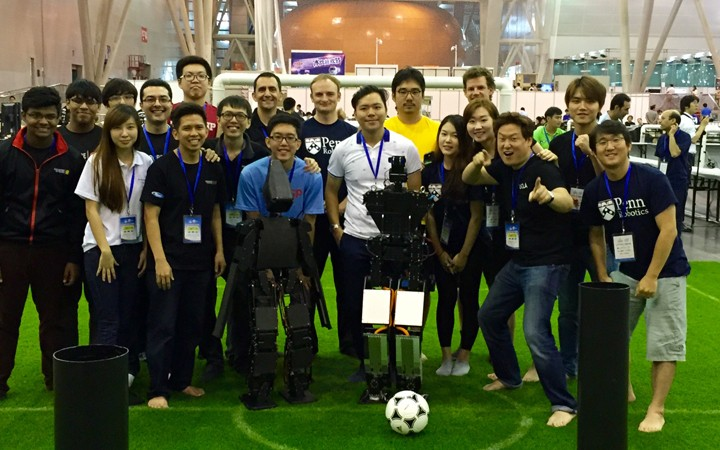 Robot THORwin won the football championship game