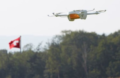 Swiss Post is testing the delivery using drones for parcels and letters