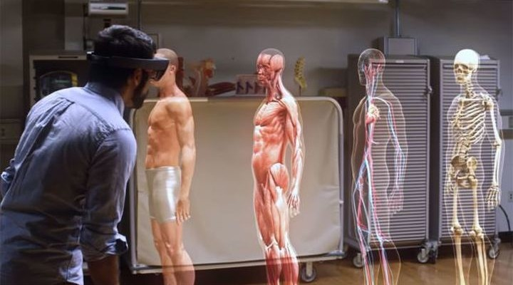 Training of physicians using Microsoft HoloLens - it's just