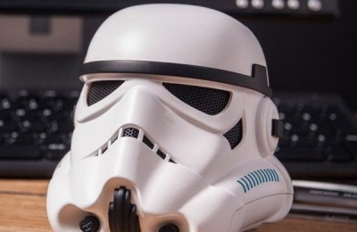Unusual wireless speakers Bluetooth as a stormtrooper helmet