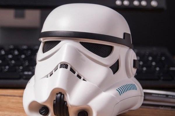 Unusual wireless speakers Bluetooth as a stormtrooper helmet