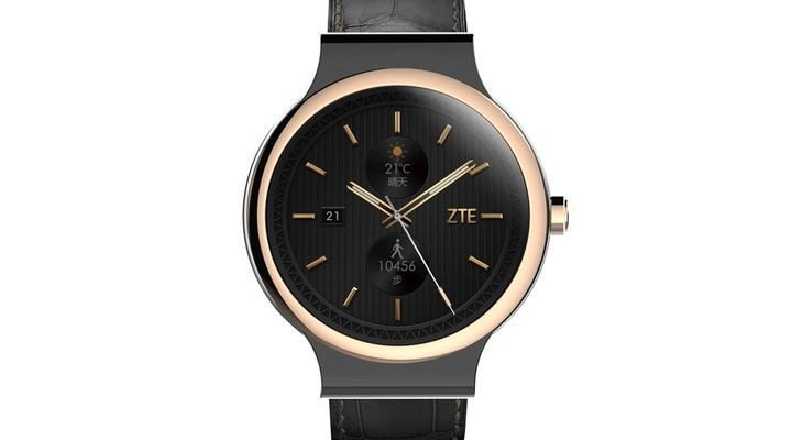 ZTE Axon Watch - waterproof smartwatch 2015 with a round display
