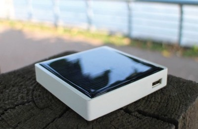 Battery Pocket Sun is charged by movement, heat and light