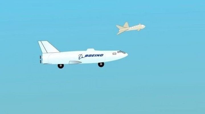 Boeing has patented a flying best drone, able to transform into a submarine