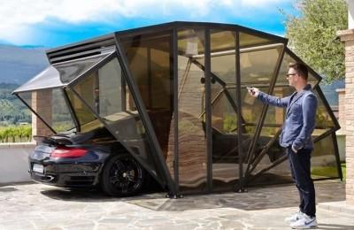GazeBox - transparent folding garage