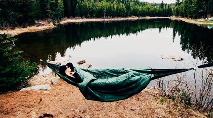 New insulated sleeping hammock bed Clayborne Outdoor Goods Bison Bag G2