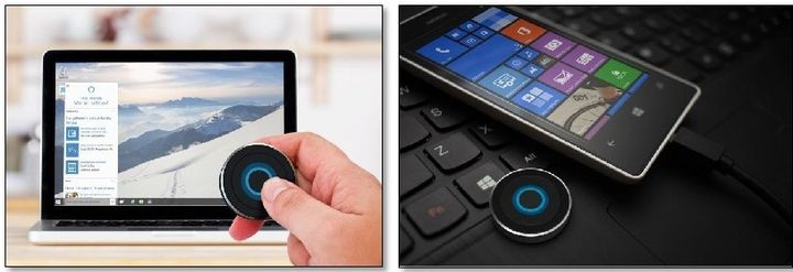 Satechi BT Cortana Button keyboard - a button to start Cortana