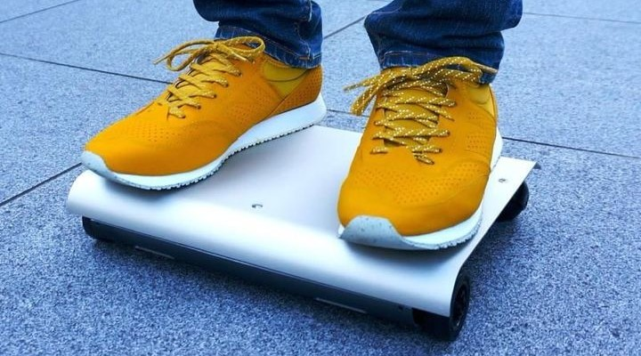WalkCar - electric skateboard 2015 in the form of a laptop