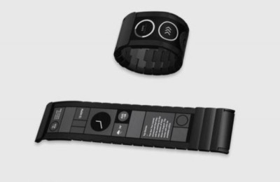 Wove Band: smart bracelet with flexible display
