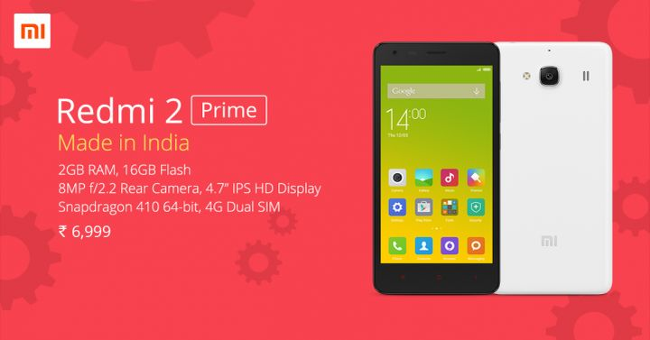 Xiaomi Redmi 2 Prime - best smartphone from India