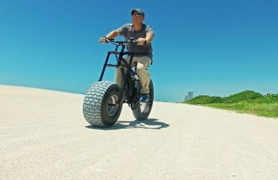 Xterrain500 - electric bicycle with a wide wheel