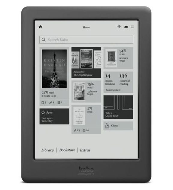 Kobo Touch 2.0 - cheap e-book for $ 70